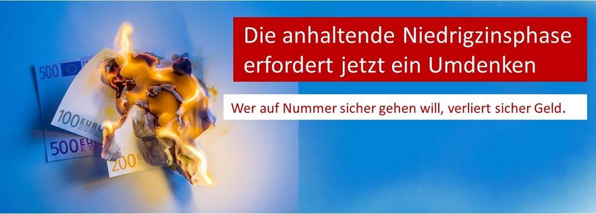 Kraus Finanz aus Alzenau ist überzeugt: Wer auf Nummer sicher gehen will, verbrennt sein Vermögen.