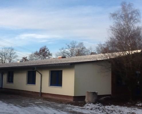 Baustelle der Solaranlage in Perleberg