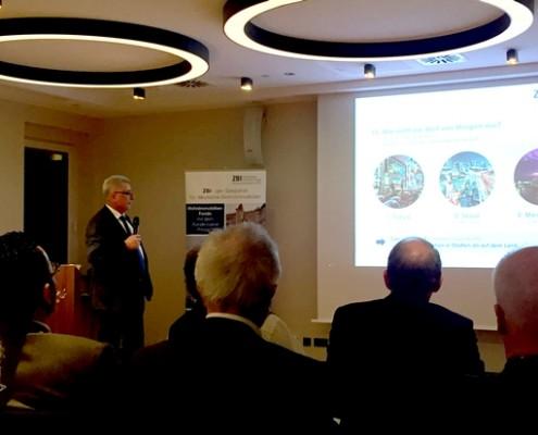 Peter Groner hat in Frankfurt einen Vortrag gehalten