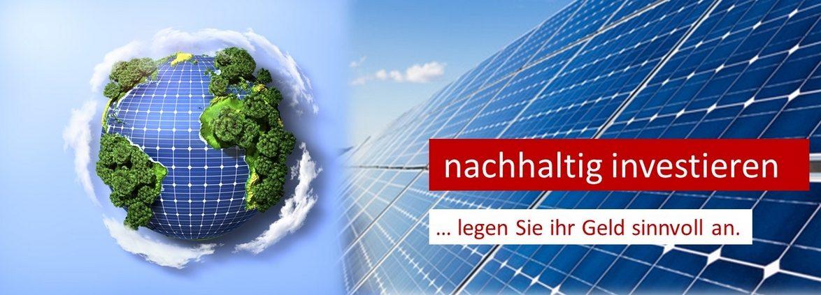 Eine Investition in eine Solaranlage in nachhaltig. Erneuerbare Energien schonen die Umwelt.