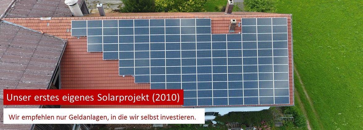 Joachim Kraus von Kraus Finanz aus Alzenau hat die Solaranlage in 2010 gekauft.