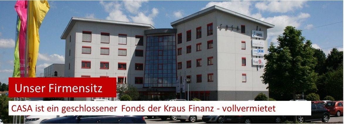 Das CASA Alzenau Süd ist der Firmen der Kraus Finanz aus Alzenau. Joachim Kraus hat 2001 diesen Immobilienfonds aufgelegt. Das Gebäude ist vollvermietet.