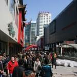 volle Einkaufsstraße in Shenyang