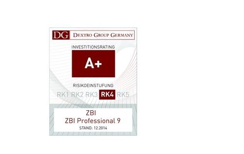 Dextro ratet ZBI Professional 9 mit A+
