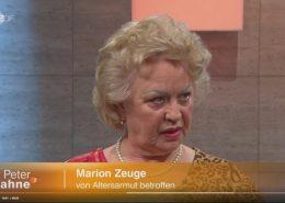 Die Rentnerin Marion Zeuge berichtet daüber, dass sie weniger Rente bekommt als ein Hartz IV Empfänger.