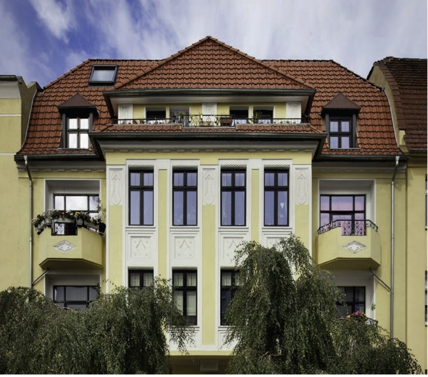 Das Bild zeigt eine Wohnimmobilie in Dresden