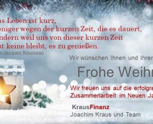 Weihnachtsgruß 2017 von Kraus Finanz aus Alzenau